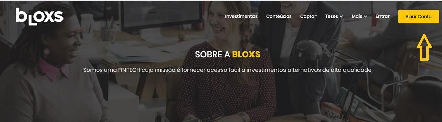 abrir conta na bloxs investimentos