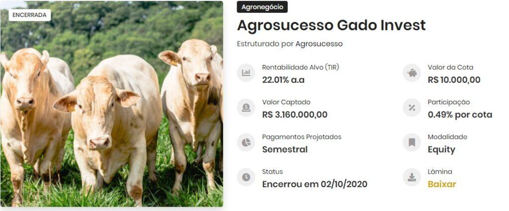 operação agrosucesso gado invest, financiamento agropecuaria, fiagro